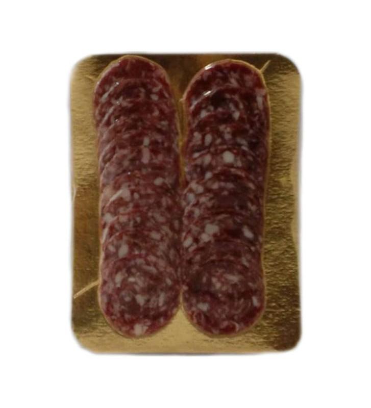 Salchichón Ibérico de bellota loncheado en sobres de 100 gr envasado al vacío