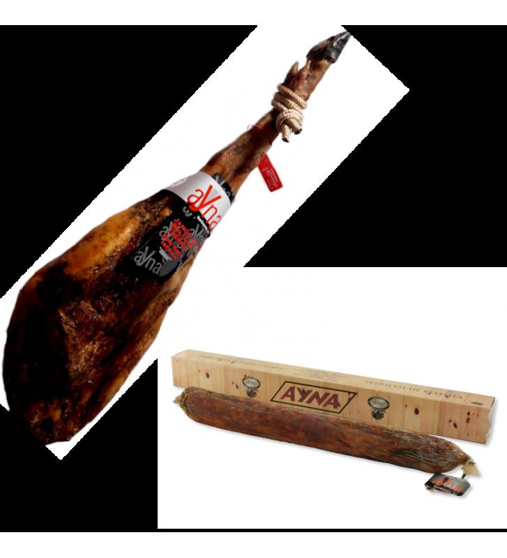 jamón de bellota 50% raza ibérica + lomo de bellota 50 % raza ibérica